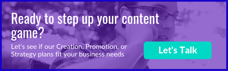 Outsource content marketing - talk to us